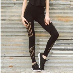 NWT Shosho black seamless workout leggings